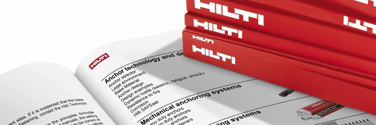 Hilti technical literature anchors