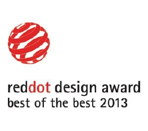 "Ten produkt nagrodzono tytułem ""Best of the Best"" w ramach konkursu Red Dot Design Award."